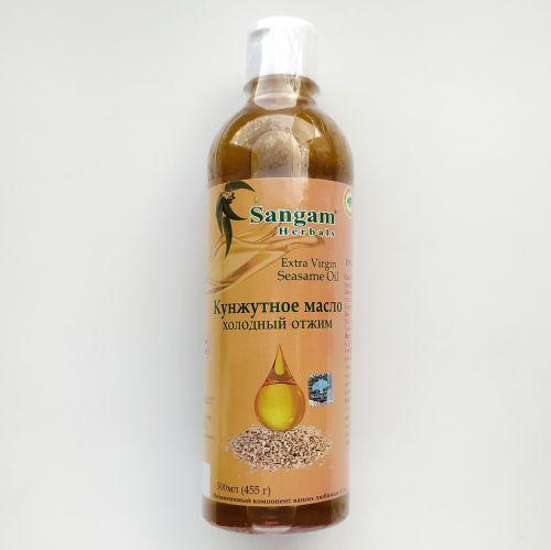 Кунжутное масло холодного отжима | Extra virgin Sesam oil | 500 мл | Sangam Herbals