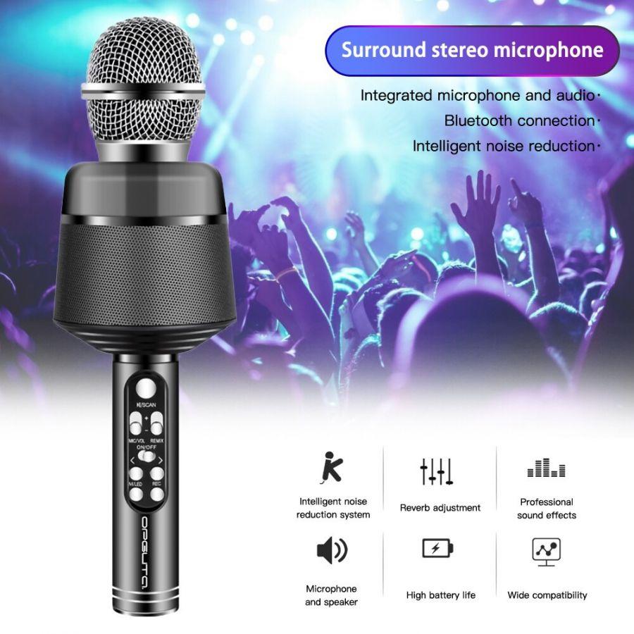 Орбита OT-ERM10 Черный RGB микрофон (Bluetooth, динамики, USB)
