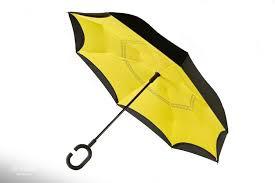 Зонт наоборот (Обратный зонт) Жёлтый однотонный