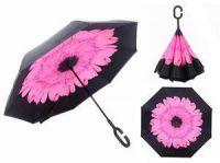 Зонт наоборот (Обратный зонт) Розовый цветок