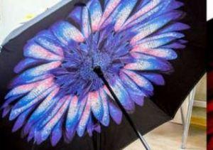 Зонт наоборот (Обратный зонт) Синий цветок