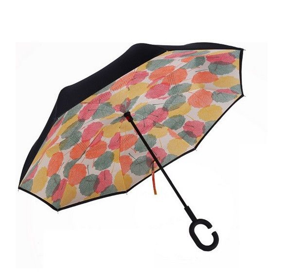 Зонт наоборот (Обратный зонт) Цветные листья