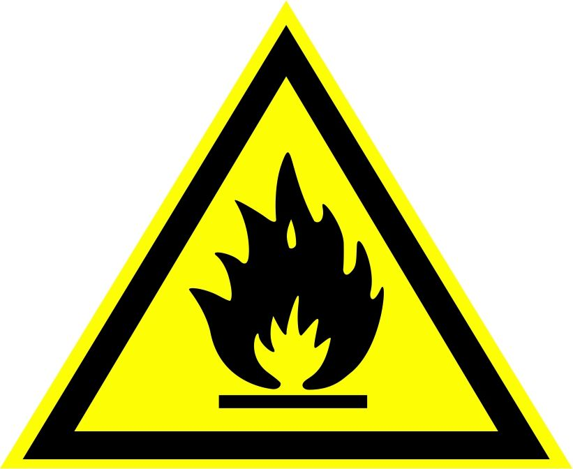 """W01 """"Пожароопасно. Легковоспламеняющиеся вещества"""""""