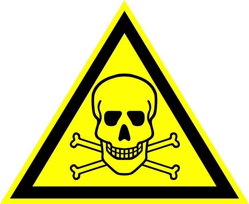"""W03 """"Опасно. Ядовитые вещества"""""""