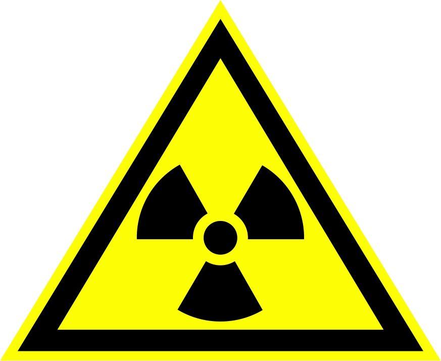 """W05 """"Опасно. Радиоактивные вещества или ионизирующее излучение"""""""