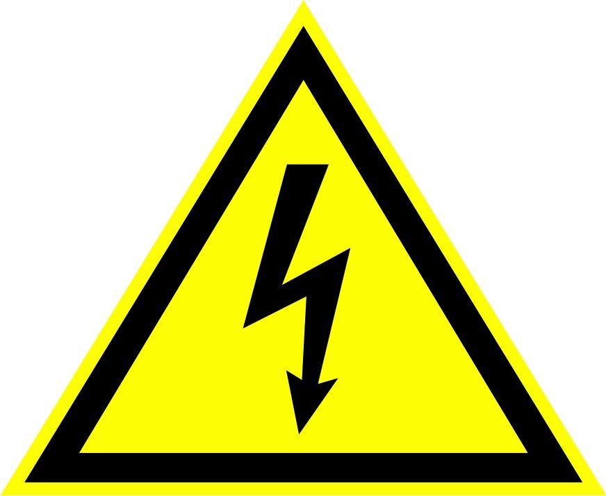 """W08 """"Опасность поражения электрическим током"""""""