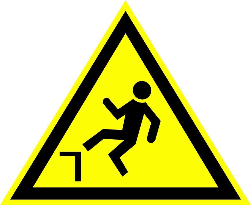 """W15 """"Осторожно. Возможность падения с высоты"""""""