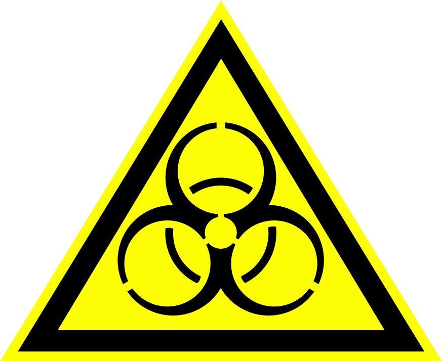 """W16 """"Осторожно. Биологическая опасность (инфекционные вещества)"""""""