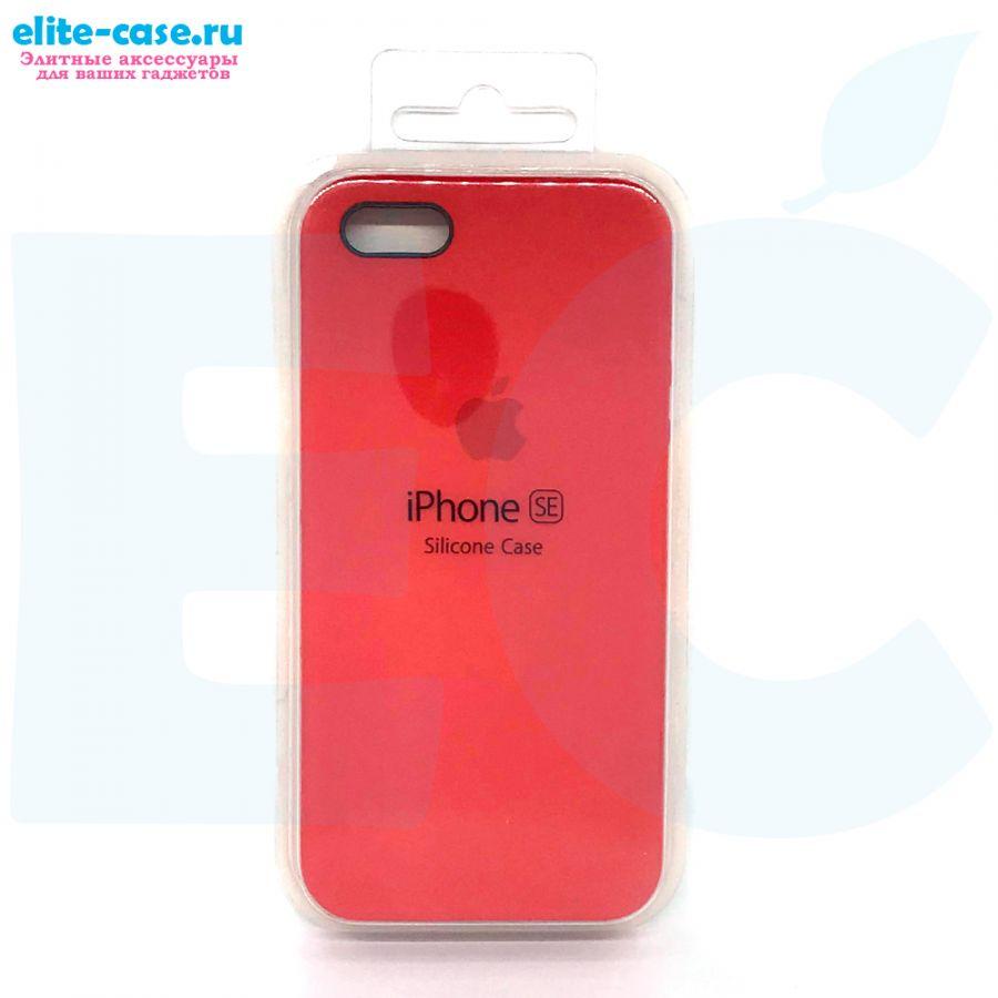 Чехол Silicon Case для iPhone 5/5S/SE красный