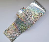 Фольга для дизайна ногтей, литья (переводная). Цвет: глянцевая серебро шипы (Размер: 4см на 1 метр)