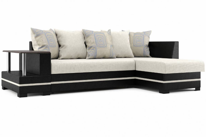 Лорд 2 (08) угловой диван правый (УП) Pedro 24/Real black