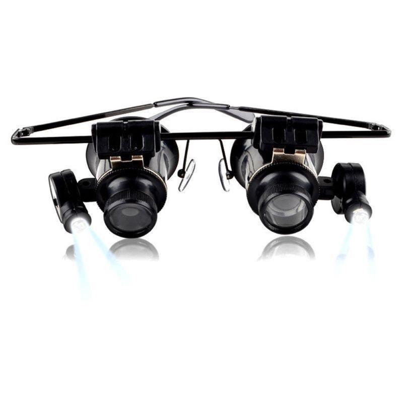 Очки ювелира и часовщика с увеличением в 20 раз (с подсветкой)