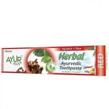 ТРАВЯНАЯ ЗУБНАЯ ПАСТА ВАДЖРАДАНТИ + ГВОЗДИКА АЮР ПЛЮС (HERBAL AYURVEDIC TOOTHPASTE RED AYUR PLUS), 100 Г.