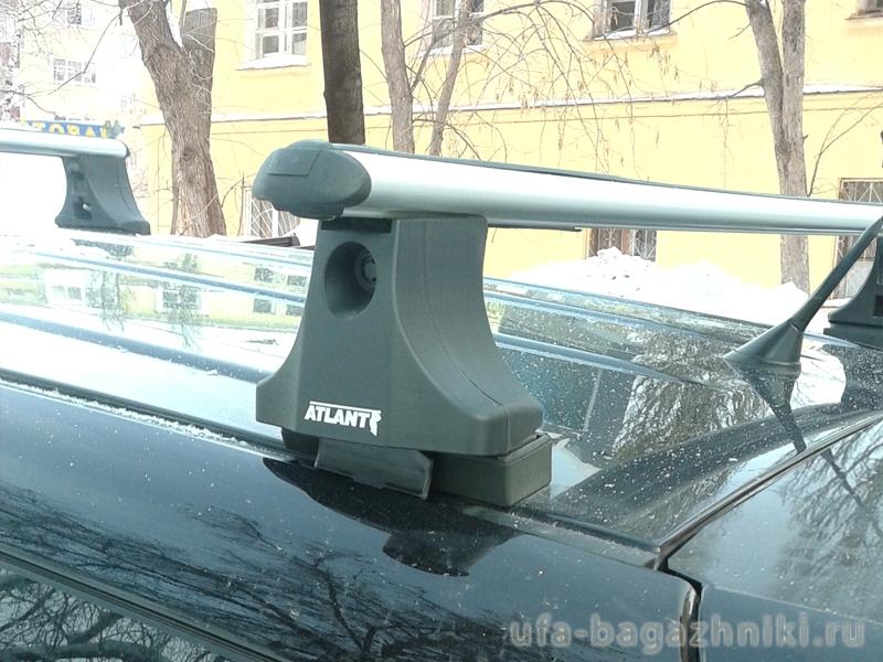 Багажник на крышу Peugeot Partner 1997-2008, Атлант, аэродинамические дуги