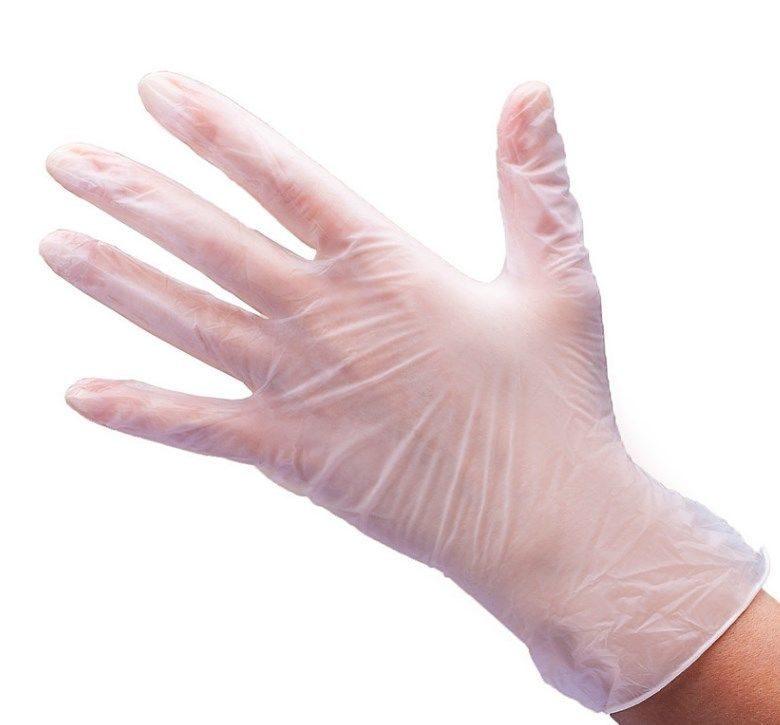 Перчатки виниловые (прозрачные) р. S  50пар/уп