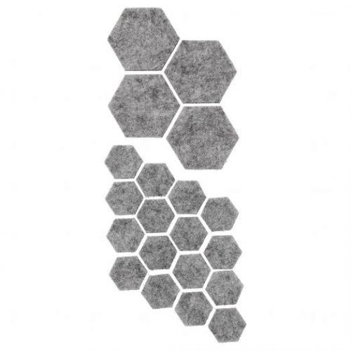 FIXA ФИКСА, Наклейки на мебельные ножки, 20 шт, серый - 604.311.53