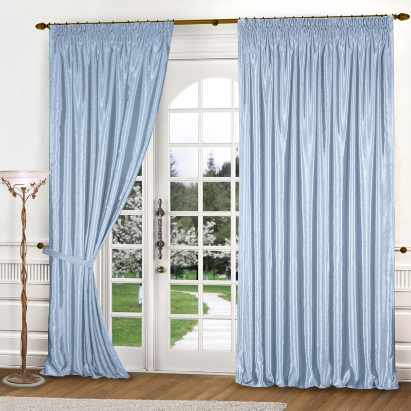 Комплект штор № 035, (260*150)х2 голубой