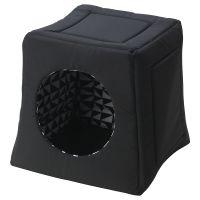 LURVIG ЛУРВИГ, Кроватка/домик д/кошки, черный/белый, 38x38x37 см - 704.844.00