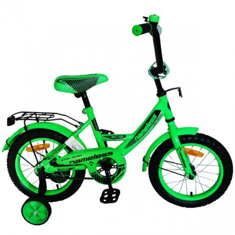 """Велосипед 12"""" Nameless Vector, зеленый/черный"""