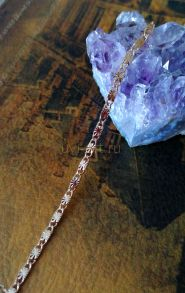 Позолоченная цепочка с эффектом алмазной огранки, 2 мм (арт. 250326)