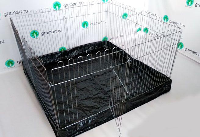 Вольер для собак щенков с дном 8х64х63 квадрат