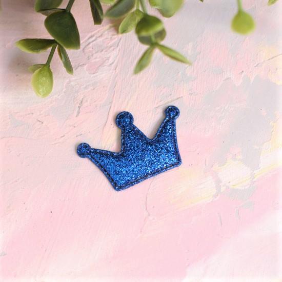 Кукольный аксессуар - Патч Корона синяя, 1 шт