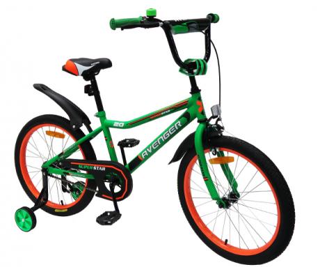 """Велосипед 18"""" AVENGER SUPER STAR зеленый/черный"""