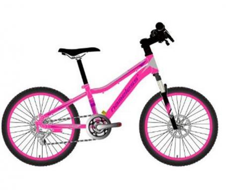 "Велосипед 20"" Nameless S2200DW, розовый/серый, 12"""