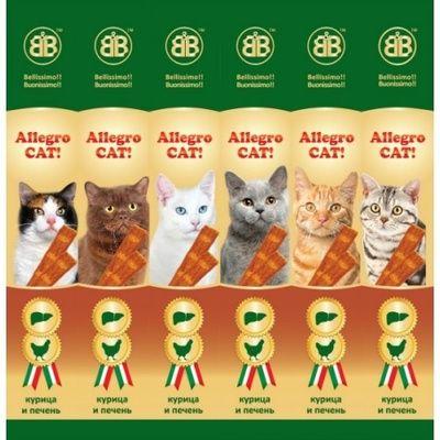 Колбаски B&B Allegro для кошек с курицей и печенью 1шт