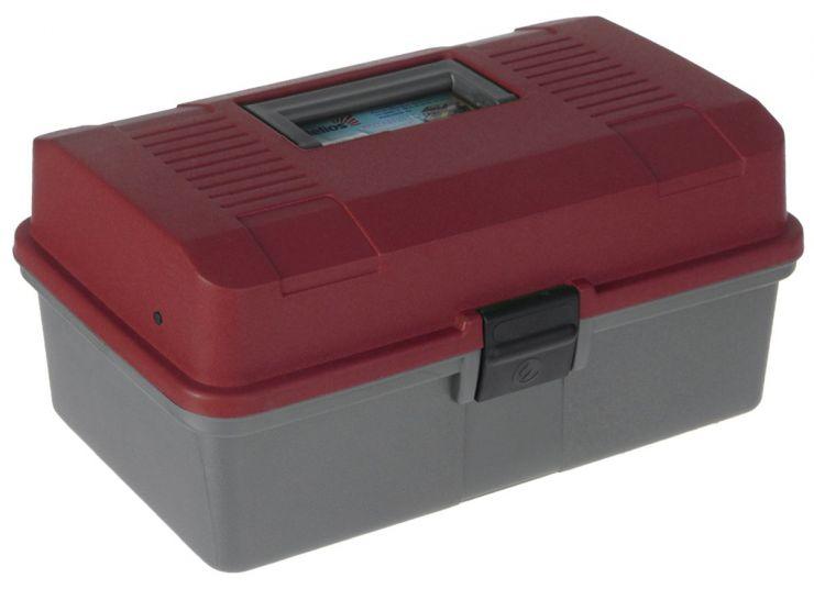 Ящик летний двухполочный HELIOS (красный)