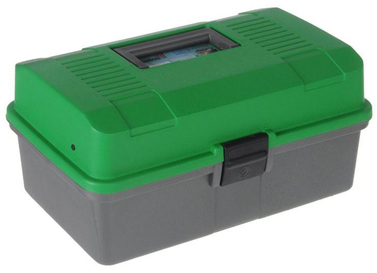 Ящик летний двухполочный HELIOS (зеленый)