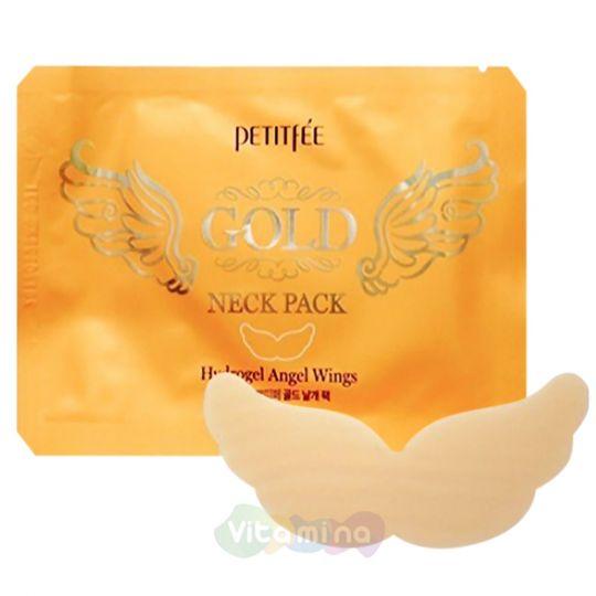 Petitfee Гидрогелевые патчи для шеи с экстрактом золота Gold Neck Pack