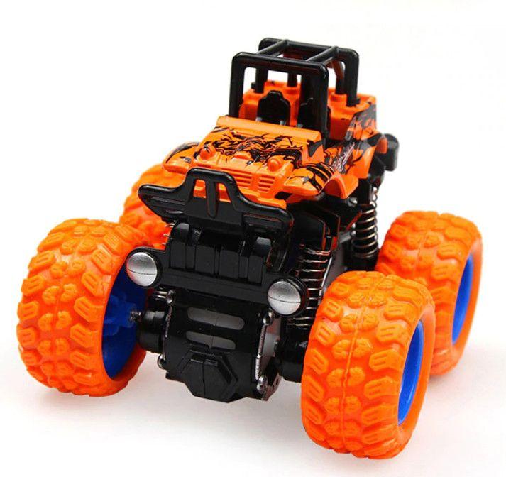Инерционная машинка 4х4 Big Foot Wheel Powerful, цвет оранжевый