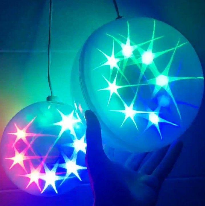 Большой эксклюзивный шар с LED светодиодами, диаметр 25 см