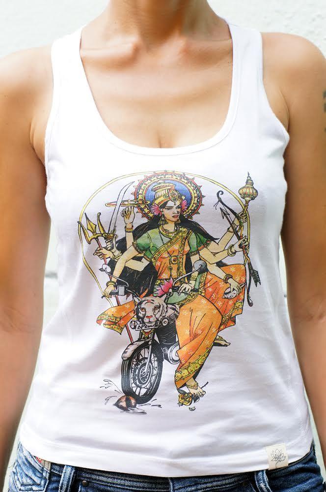 Эксклюзив! Трикотажная майка с индийским божеством Дурга (Москва)