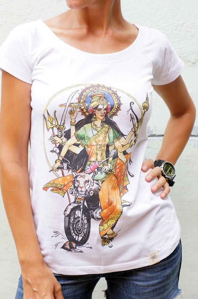 Эксклюзив! Трикотажные футболки с индийским божеством Дурга (Москва)