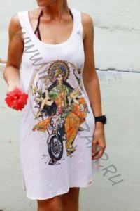 Эксклюзив! Трикотажное платье с индийским божеством Дурга (Москва)