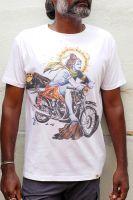 Белые мужские футболки с изображением индийского бога Шивы. Можно купить в интернет магазине в Москве. Количество ограничено.