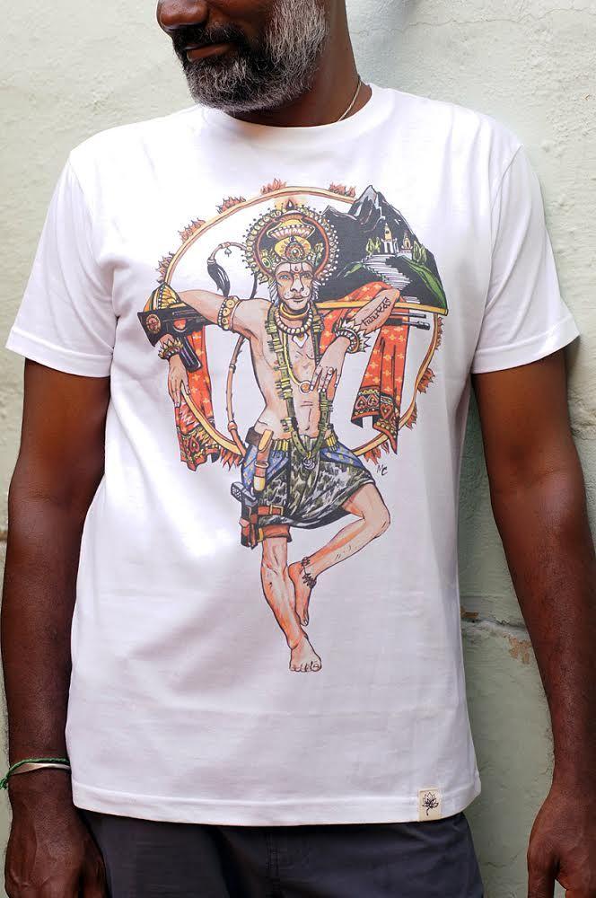 Эксклюзив! Мужская футболка с Хануманом (Москва)