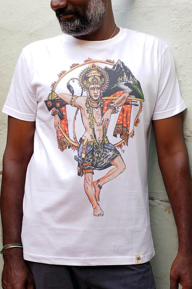 Эксклюзив! Мужская футболка с Хануманом (СПб)