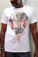 Белые мужские футболки с изображением индийского бога Ханумана. Купить в интернет магазине в Москве. Limited Edition.