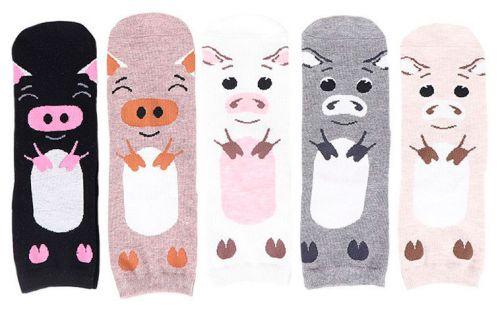 """Новогодние женские носки """"поросята"""" 36-41 KW0800"""