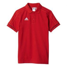 Детская футболка-поло adidas Tiro 17 Cotton Polo красная