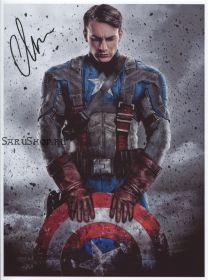 Автограф: Крис Эванс. Первый мститель. Мстители