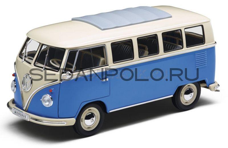 Модель автомобиля Volkswagen T1 Samba Van (1962), Scale 1:18, Blue/Cream