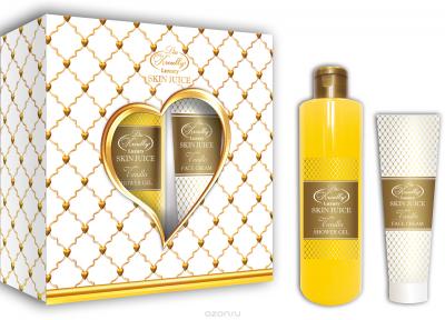 Парфюмерно-косметический подарочный набор Vanilla Liss Kroully Skin juice Гель для душа 260 мл + Крем для лица 100 мл