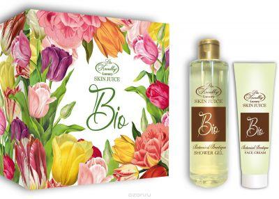 Парфюмерно-косметический подарочный набор Botanical Liss Kroully Skin juice Boutique Гель для душа 260 мл + Крем для лица 100 мл