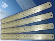 Линейка металлическая 20 см, двойная шкала (арт. Tz-385)
