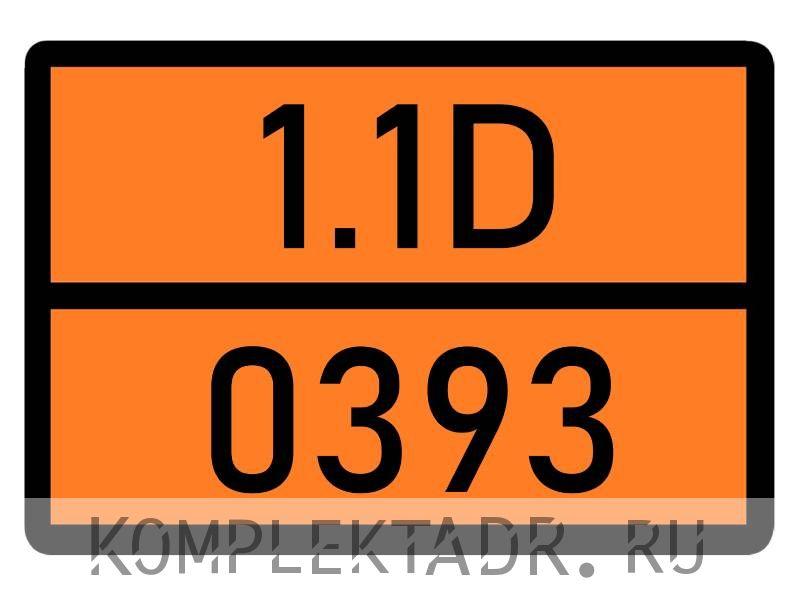 Табличка 1.1D-0393
