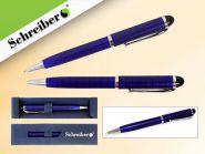 Ручка шариковая металлическая в футляре, синие чернила, синий корпус (арт. S 2852)